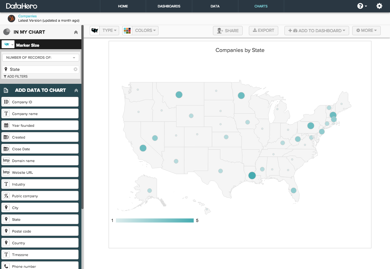 Can DataHero Create Maps Help DataHero - Create a map of the us with locations marked